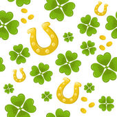 Seamless St.Patricks day background — Vettoriale Stock