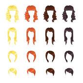 Female hair — Stock Vector