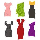Female dresses — Stock Vector