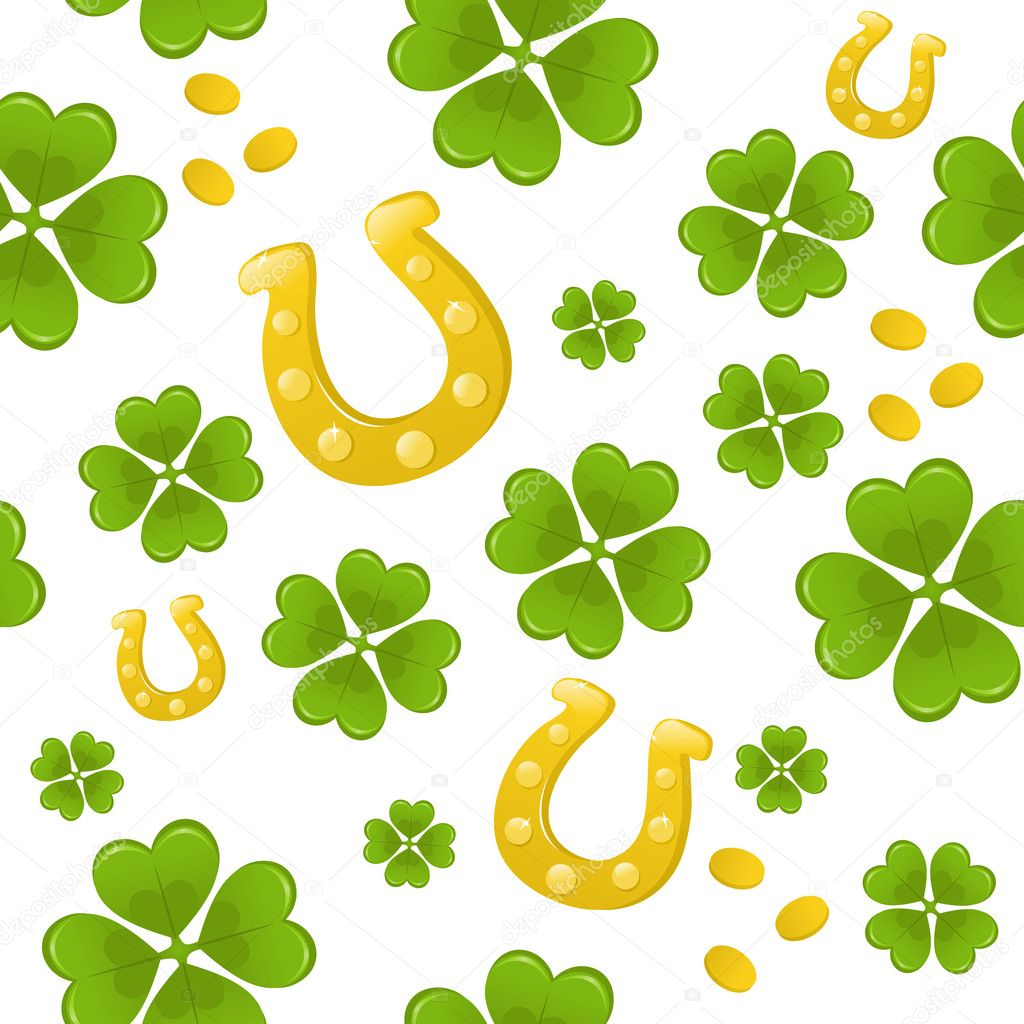 Seamless St.Patricks day background  Stock Vector #5247009