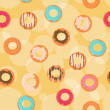 Royalty-Free Stock Vector Image: Seamless donuts background