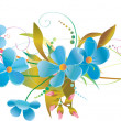 blue flowers — Stock Vector