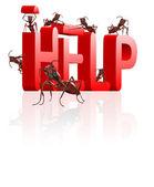 Ant building help — Stock Photo