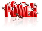 Ants building power and strenght — Stock Photo