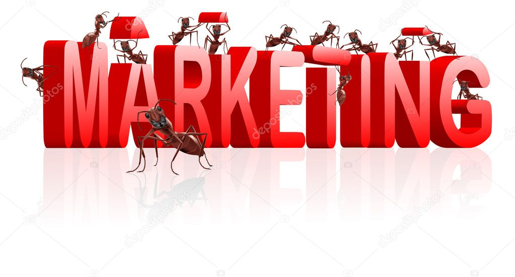 Marketing or market strategy building positioning and targetting product towards clients — Stock Photo #4015368