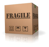 Fragile post package cardboard box — Stock Photo