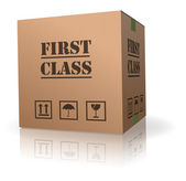 First class delivery or shipment — Stock Photo