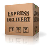 Expres delivery cardboard box — Stock Photo