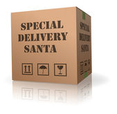 Santa package special delivery — Stock Photo