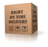 Right on time delivery — Stock Photo