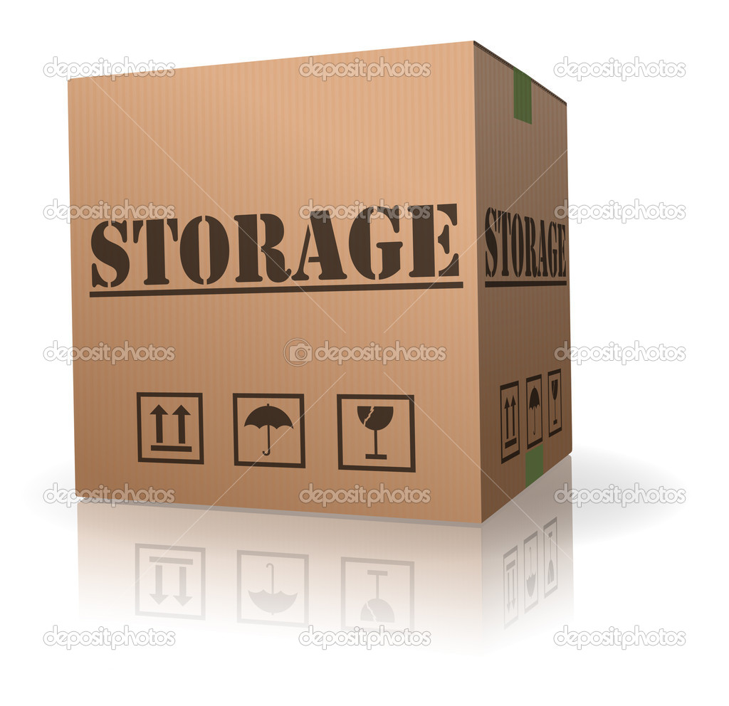 Storage cardboard box keep important thing safe  Stock Photo #4058785