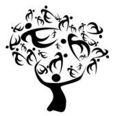 árvore genealógica — Foto Stock