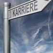 Carreer roadsign german clipping path — Stock Photo