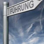 Leadership German clipping path — Stock Photo