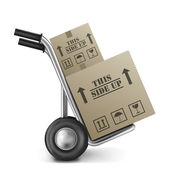 This side up cardboard box — Stock Photo