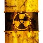Постер, плакат: Barrel nuclear waste