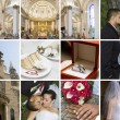 Wedding Collage — Stock Photo #4180437