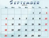Monthly calendar — Stock Photo