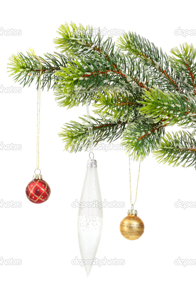 Christmas decoration on a white background. — Stock Photo #4057099