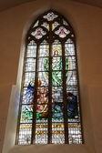 Stained glass window. — Stockfoto