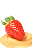 Cake with strawberry. — Stock Photo
