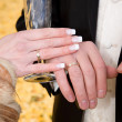 Royalty-Free Stock Photo: Hands of bride and groom.