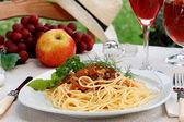 Spaghetti bolognese. — Zdjęcie stockowe