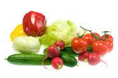 čerstvá zelenina na bílém pozadí. — Stock fotografie