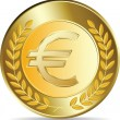 Stock Vector: Euro coins vector illustration