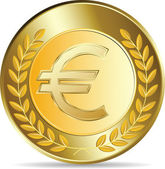 Euro coins vector illustration — Stock Vector