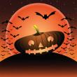 Halloween pumkin — Stock Vector