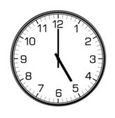 Classic wall clock on the wall — Stock Photo