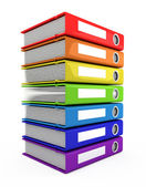 3d color books tower — Stock Photo