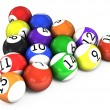 Stock Photo: Billiard balls out of American billiards