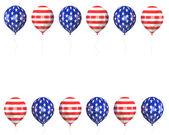 Balls with symbols of the U.S. — Stock Photo