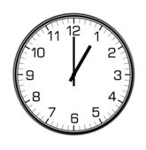 Classic wall clock on the wall — Stockfoto