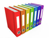 3d color business books — Stock Photo