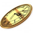 3d antique old clock — Stock Photo
