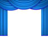 Blue theater curtain — Stock Photo