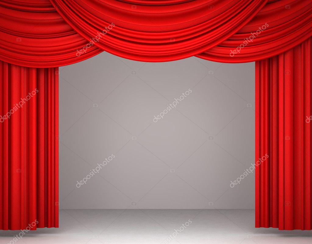 Red theater curtain stock photo 169 iraidka 5276055