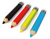3d color pencils isolated — Stock Photo
