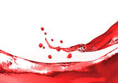 Red wine splash — Stock Photo
