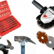 Stock Photo: Tools on white anderground