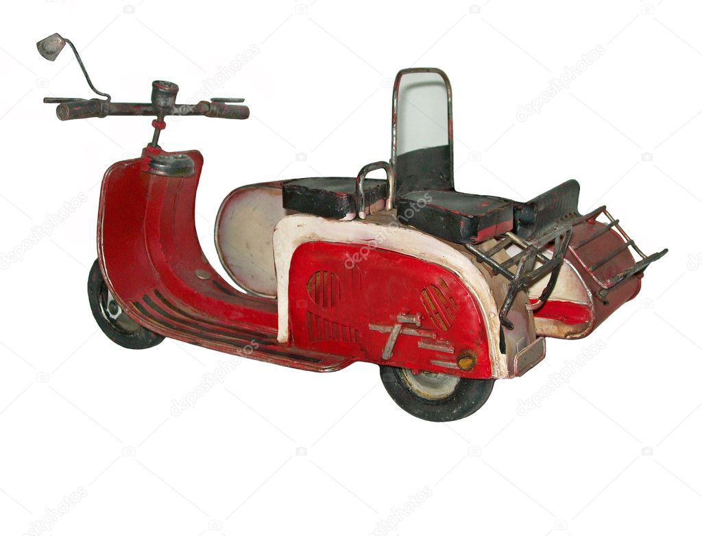 Nostalgia old motorcycle with sidecar — Stock Photo #5204806