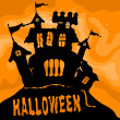Stock Vector: Halloween castle