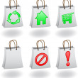 Bag with icons — Stock Vector #4105765