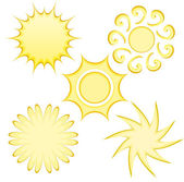 Abstract Suns — Stock Vector