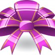 Purple ribbon bow - Stock Vector