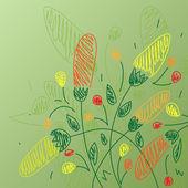 Blumen hintergrund zeichnen — Stockvektor