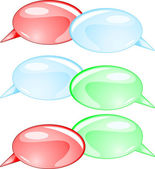 Couple speech bubbles — Stockvektor